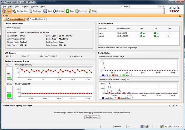 Cisco ASDM Interface