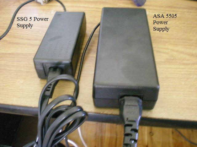 Juniper SSG 5 and Cisco ASA 5505 power adapters