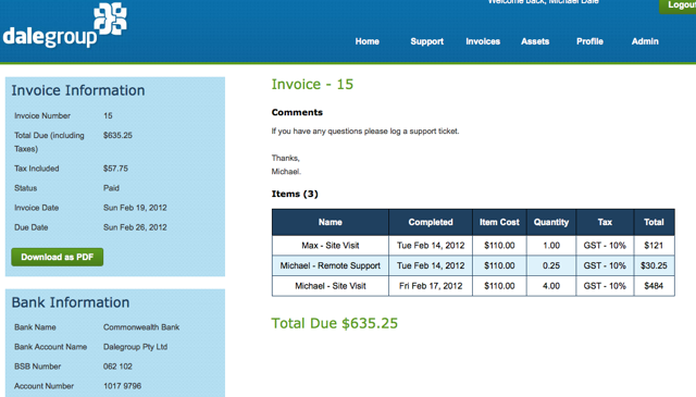 Invoicing IPM3.0